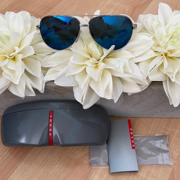 Prada blue and white sunglasses